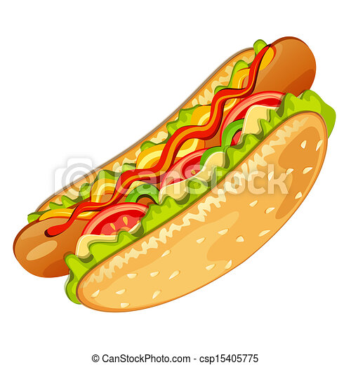 Chicago Hot Dog Illustration