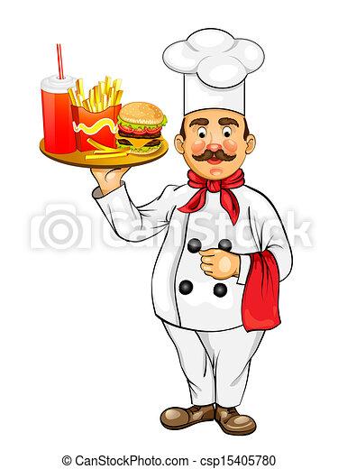 vector de chef hamburguesa chef con hamburguesa csp15405780 buscar clipart ilustraciones. Black Bedroom Furniture Sets. Home Design Ideas