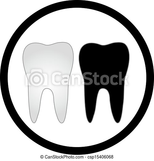 Clip Art Vector of Tooth graphic for dentist - Tooth graphic for ...