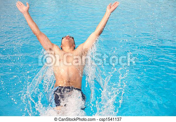 年輕, 成人, 游泳者 - csp1541137