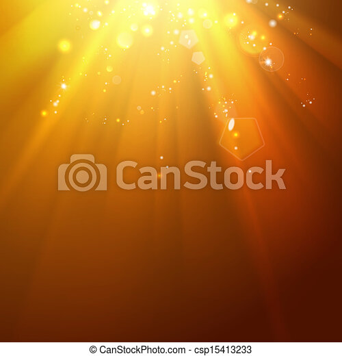 Golden stars backdrop with place for your text. - csp15413233