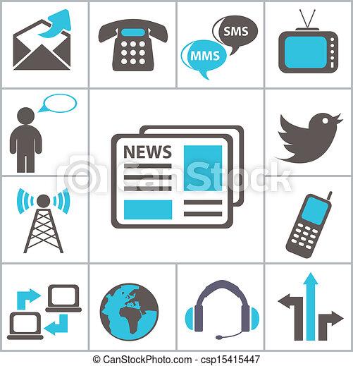 Communication. Set icons - csp15415447
