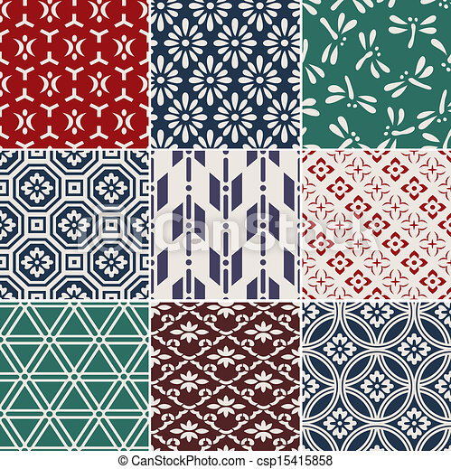 seamless japanese pattern - csp15415858