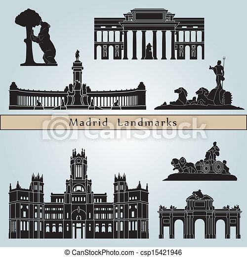 Madrid landmarks and monuments - csp15421946