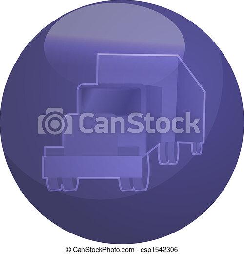 Truck land transport illustration - csp1542306