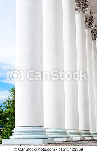 historic building with old columns  - csp15423369