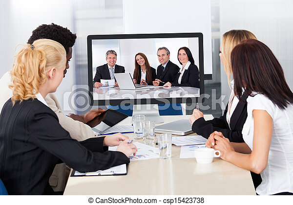 Video conference in the office - csp15423738