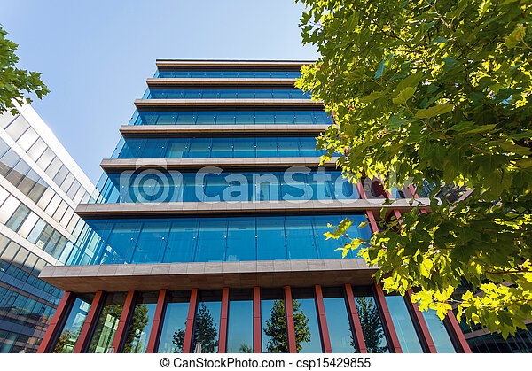 Modern office building detail - csp15429855