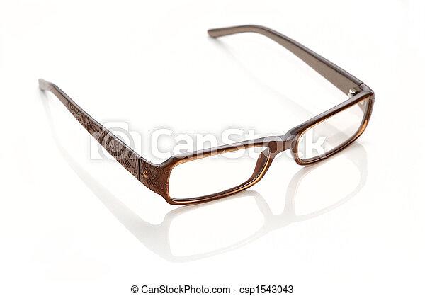 Plastic-rimmed eyeglasses - csp1543043