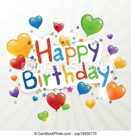 Vector Birthday Greeting Card - csp15430770
