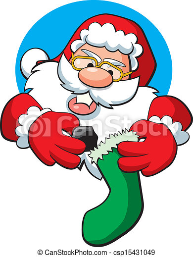 Santa Claus Coal Stocking. - csp15431049