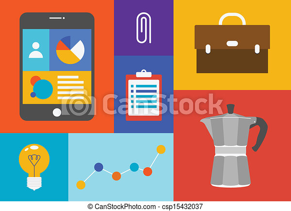 Office colorful objects - csp15432037