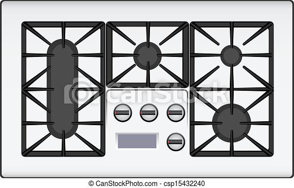 Dessin De Essence Cuisini 232 Re 224 Double Plaque Vecteur