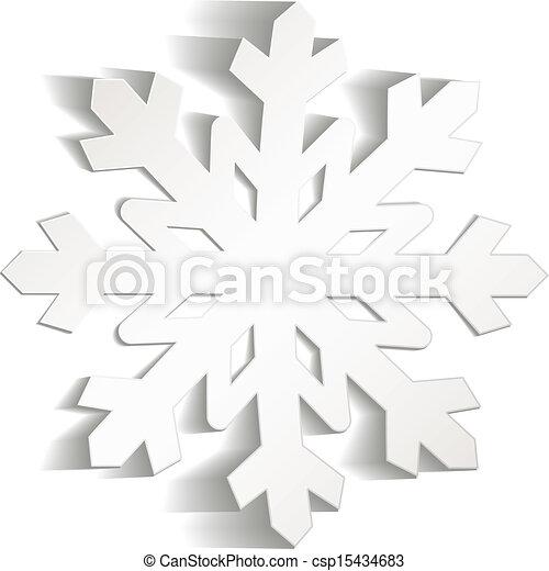 vektor von schneiden papier schneeflocken snowflakes schnitt von csp15434683 suchen. Black Bedroom Furniture Sets. Home Design Ideas