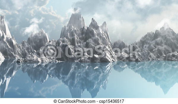 how to draw 3d mountains