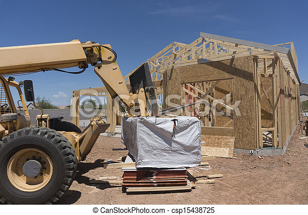 New home under construction - csp15438725