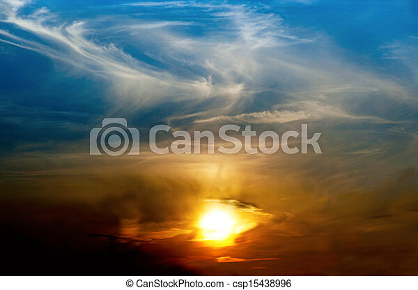 Dramatic sunset - csp15438996