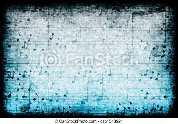 Music Themed Abstract Grunge Background - csp1543921