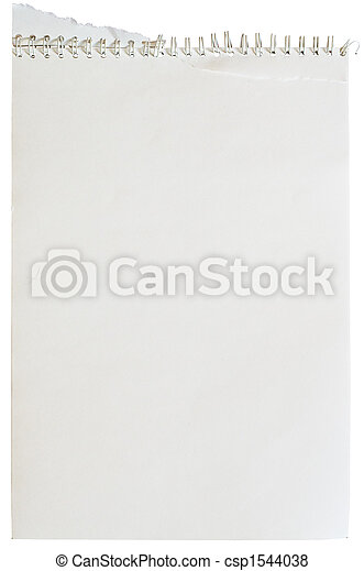 Note pad with spiral binding - csp1544038
