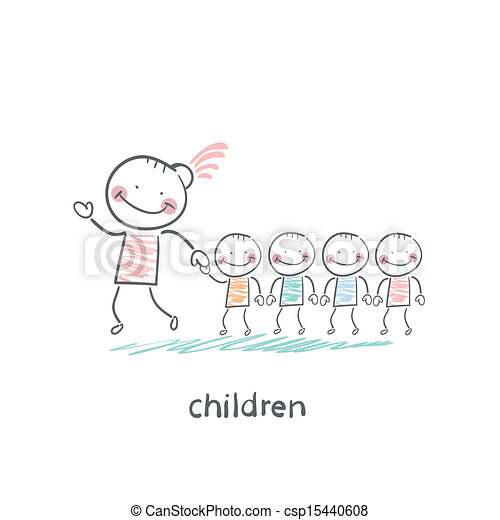 Children and adults - csp15440608
