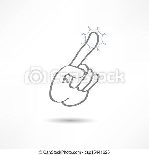 Finger Tap Clip Art Vector - touch finger
