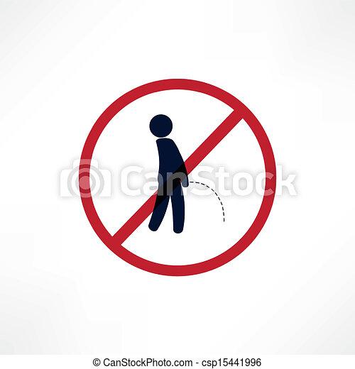 No peeing symbol - csp15441996