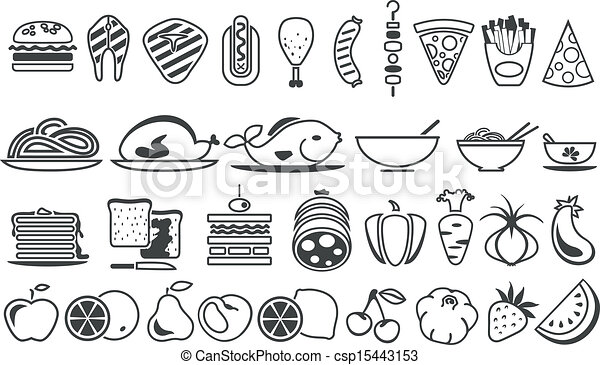 food vector icons - csp15443153