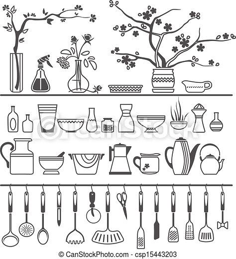 Kitchen utensil clip art - Clipart Vettoriali Di Cucina Attrezzi Utensili Vettore