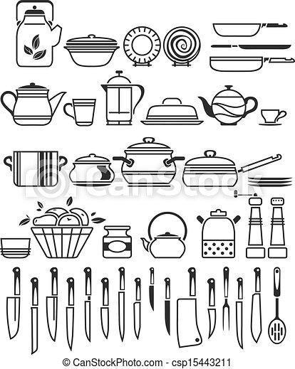 Clipart vettoriali di attrezzi vettore utensili for Attrezzi in cucina