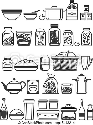 Kitchen Tools Drawings vector clipart of kitchen tools and utensils. vector illustration