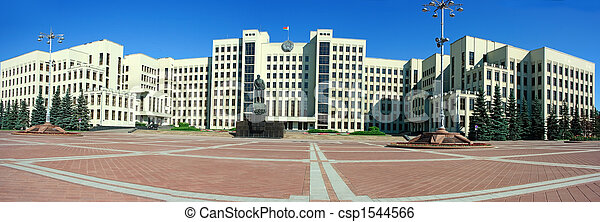 Palace of government in Minsk - csp1544566