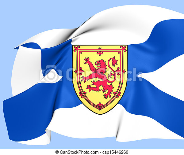 Flag of Nova Scotia, Canada.  - csp15446260