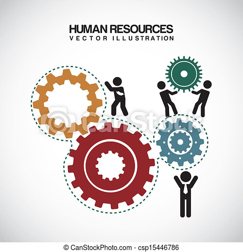 Human Resources Vector Human Resources Over Gray