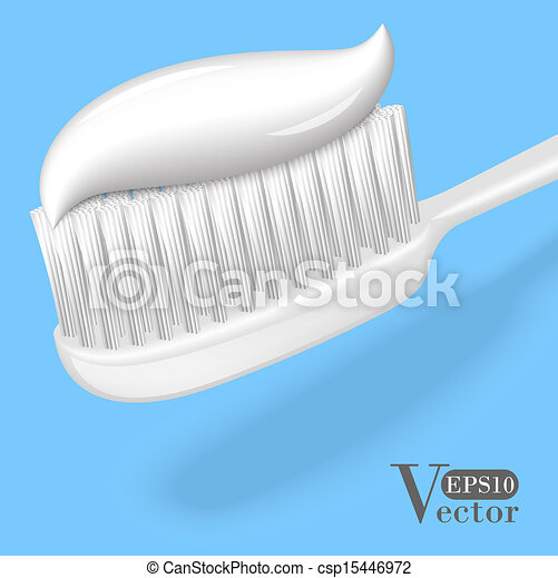 Illustrations vectoris es de brosse dents dentifrice blanc brosse dents - Brosse a dent bleu blanc rouge ...