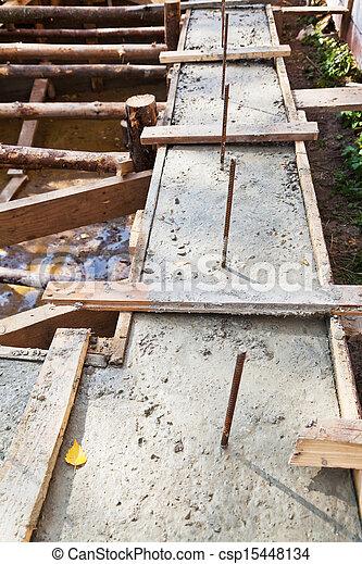 Fundação de casa de madeira