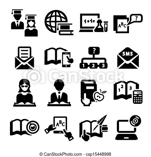 education vector  icons - csp15448998