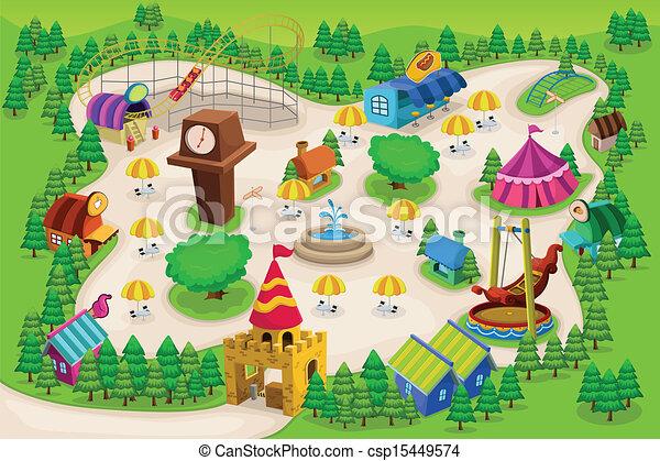 Amusement park map - csp15449574