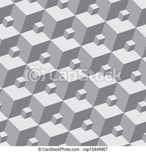 3 dimensional cube template - vector of vector pattern seamless three dimensional