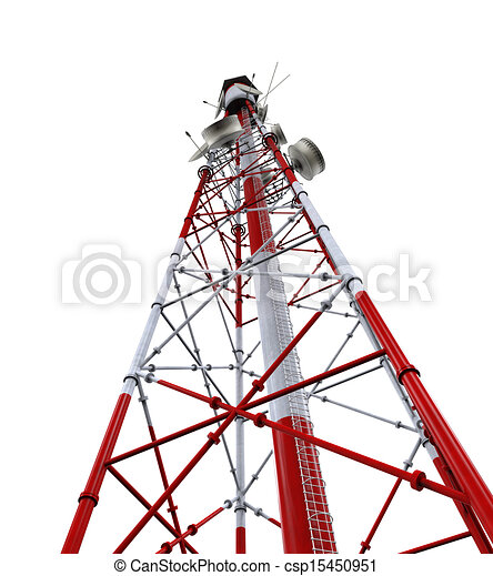 Communication Tower with Antennas - csp15450951