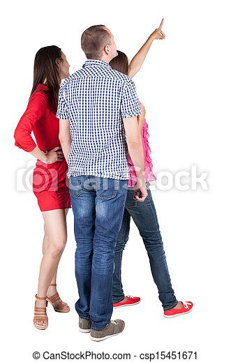 picture of back view of three friends pointing group of group of happy friends clipart Friends Hugging Clip Art