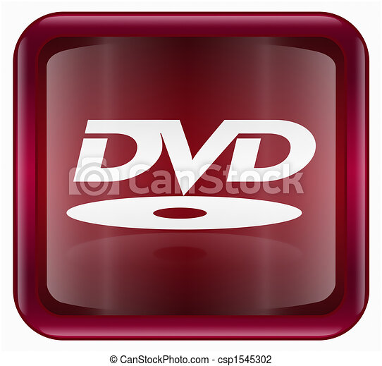 DVD icon, red - csp1545302