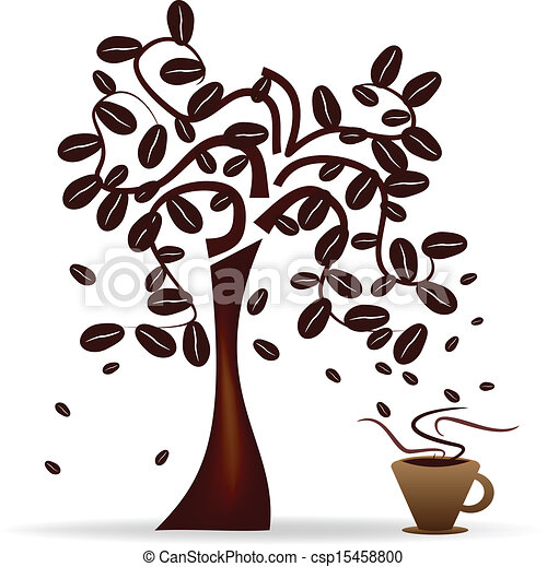 Coffee Bean Tree Drawing Tree With Coffee Beans