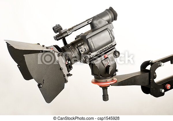 hd camcorder on crane - csp1545928