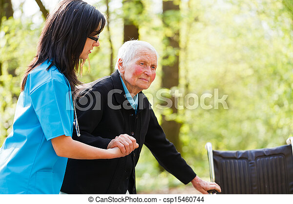 Doctor Helping Elderly - csp15460744