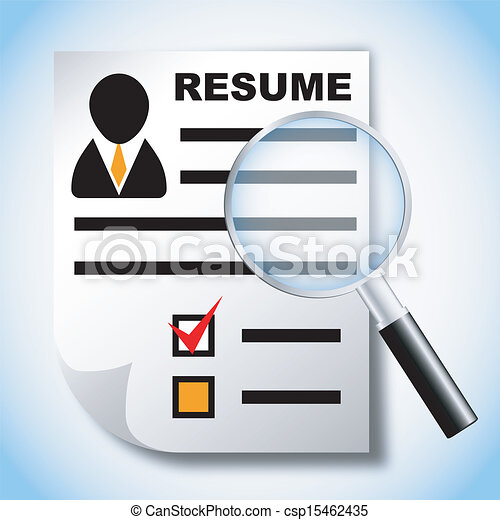download resume and job search clipart