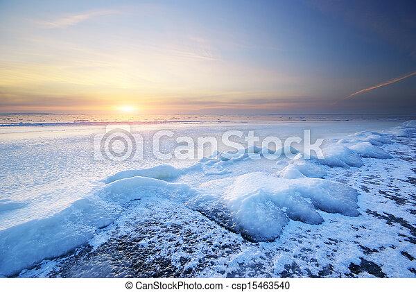 Winter landscape - csp15463540
