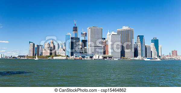 New York City Downtown skyline - csp15464862