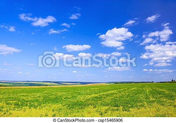 Late summer rural landscape - csp15465906