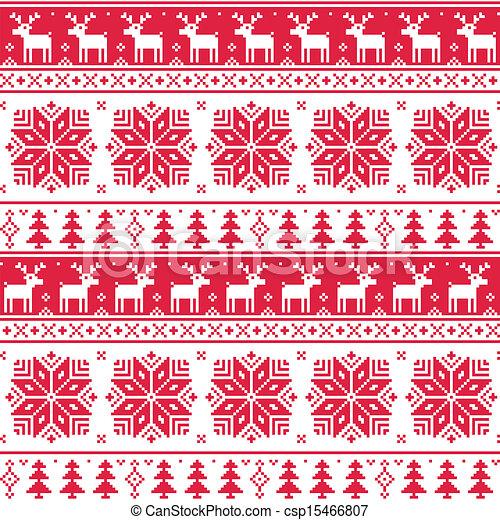 vektor clipart von weihnachten nordisch seamless rotes. Black Bedroom Furniture Sets. Home Design Ideas