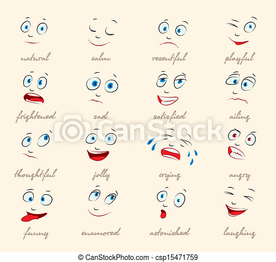 Free Expression Drawing Cartoon Facial Expression